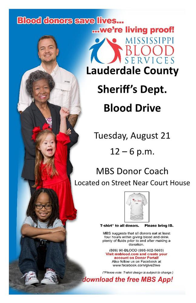 Lauderdale County Sheriff's Department Blood Drive - Press
